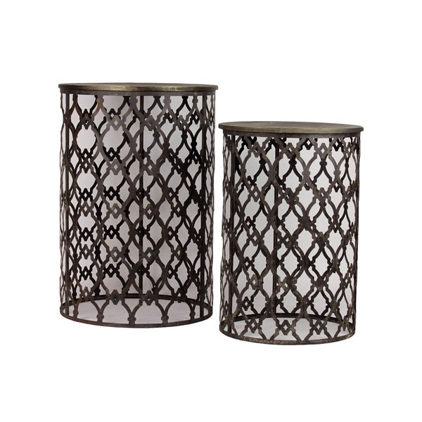 Urban Trends Collection Metal Table (Set of 2)