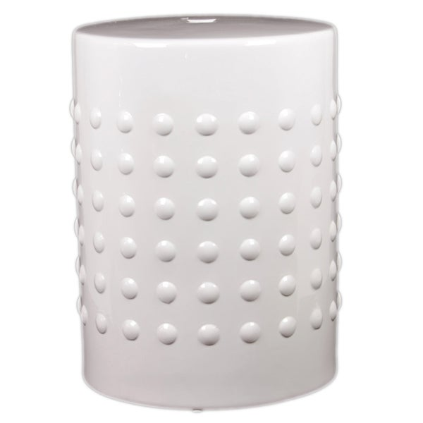 Shop Urban Trends Collection 18 Inch White Ceramic Stool