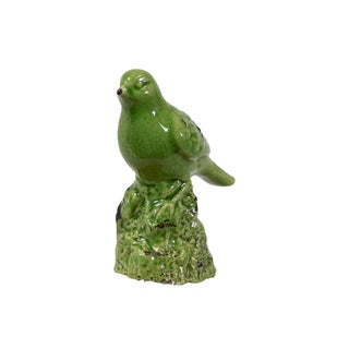Urban Trends Collection Stylish Green Ceramic Bird