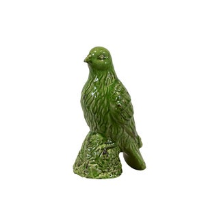 "11.5"" Urban Trends Collection Green Ceramic Bird"