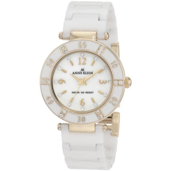 Anne Klein Women's Classic White Stainless-Steel Watch