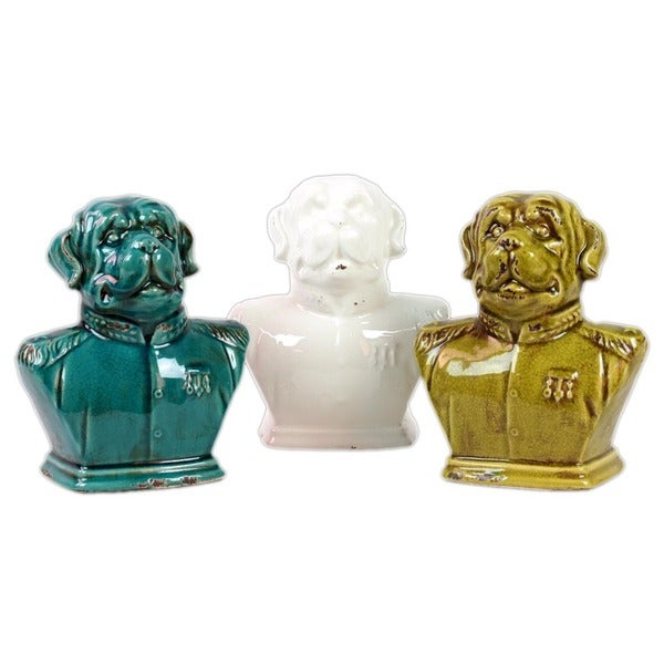 Urban Trends Collection Ceramic Dog (Set of 3)