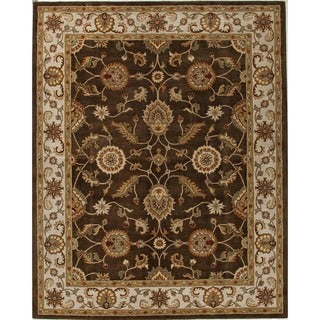 Hand-tufted Traditional Beige/ Brown Wool Runner (2'6 x 6')
