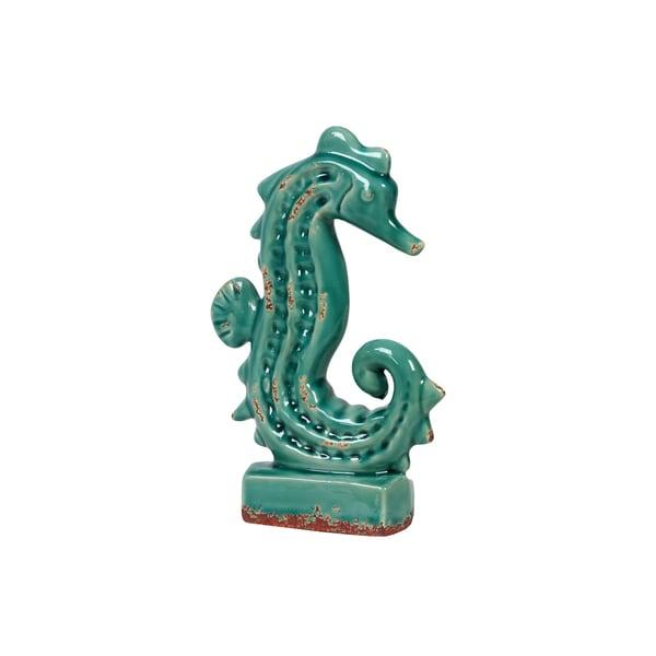 Urban Trends Collection Antique Blue Ceramic Seahorse