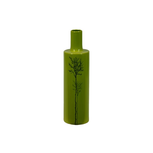 Urban Trends Collection Large Shiny Green Ceramic Vase
