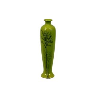 Urban Trends Collection Small Shiney Green Ceramic Vase