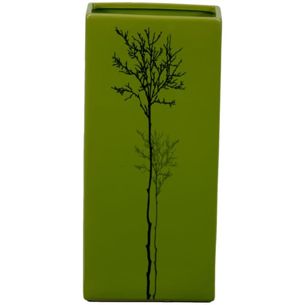 Urban Trends Collection Small Green Ceramic Vase