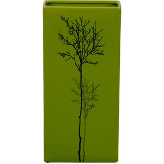 Urban Trends Collection Large Green Ceramic Vase