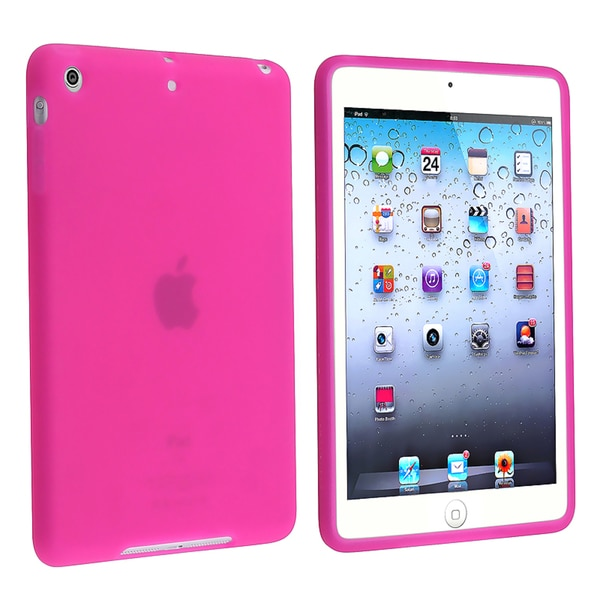 BasAcc Hot Pink Silicone Skin Case for Apple® iPad Mini