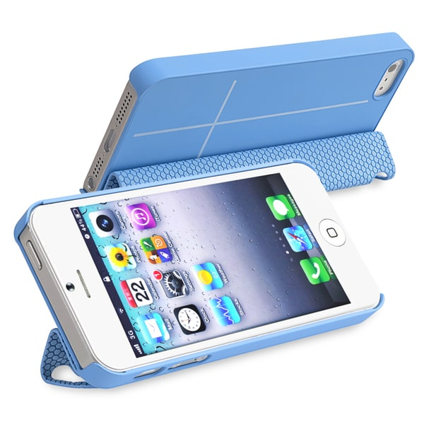 BasAcc Blue Case/ Magnetic Adsorption Smart Cover for Apple iPhone 5
