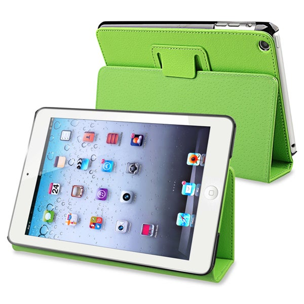 BasAcc Green Leather Case with Stand for Apple iPad Mini