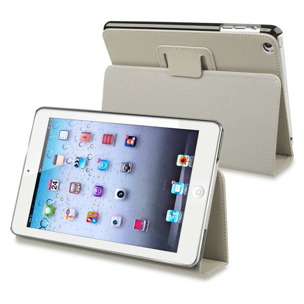 BasAcc Grey Leather Case with Stand for Apple iPad Mini