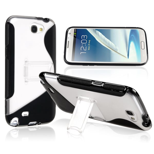 BasAcc Black/ Clear TPU Rubber Case for Samsung© Galaxy Note II N7100