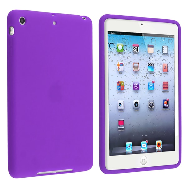 INSTEN Purple Soft Silicone Skin Tablet Case Cover for Apple iPad Mini 1/ 2 Retina Display