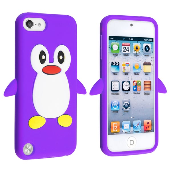 BasAcc Purple Penguin Silicone Case for Apple iPod touch Generation 5