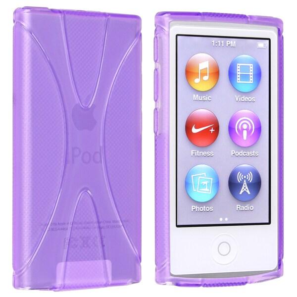 BasAcc Purple TPU Rubber Skin Case for Apple® iPod nano 7th Generation
