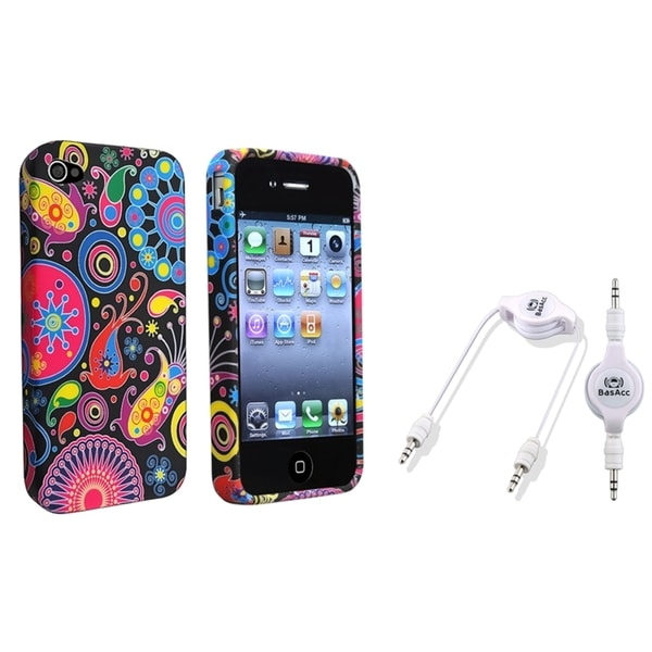 BasAcc TPU Case/ Audio Cable for Apple iPhone 4/ 4S