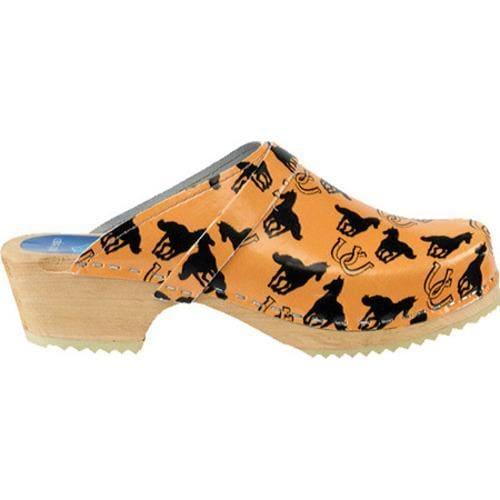 Women's Cape Clogs Horses Orange