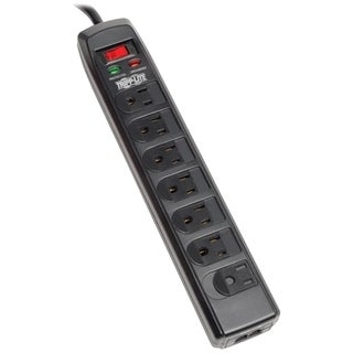 Tripp Lite Surge Protector Power Strip 120V 7 Outlet RJ11 6' Cord 144
