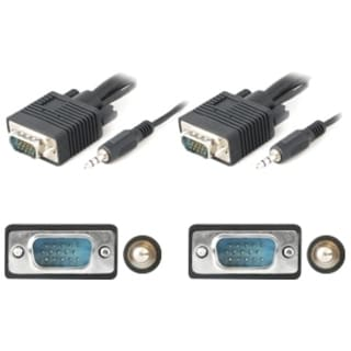 AddOn 50ft VGA Male to Male Black A/V Cable