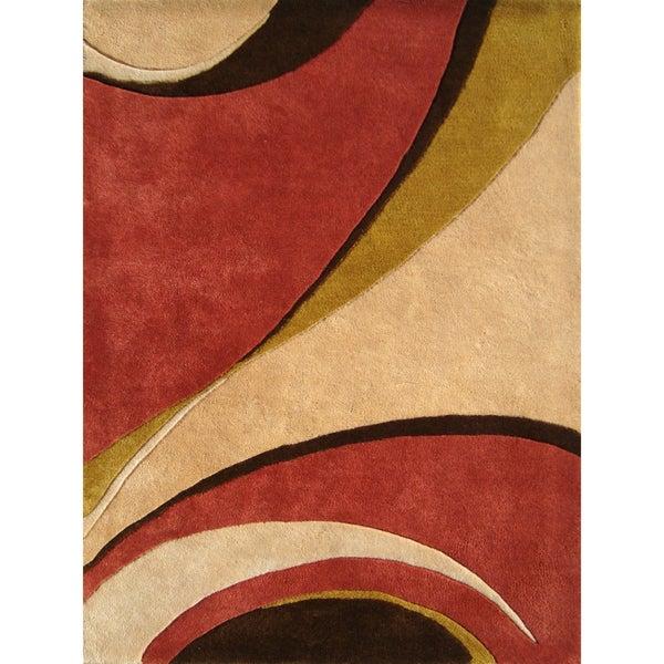 Alliyah Handmade Beige New Zealand Blend Wool Rug (9' x 12')