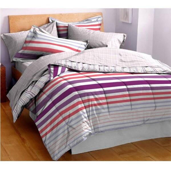 Hanes Cabana Warm Striped 3-piece Comforter Set