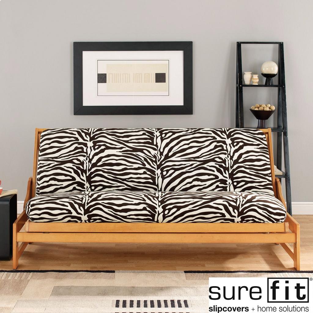 Zebra Black And White Futon Cover