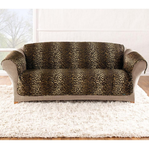 sure fit velvet leopard sofa cover free shipping today