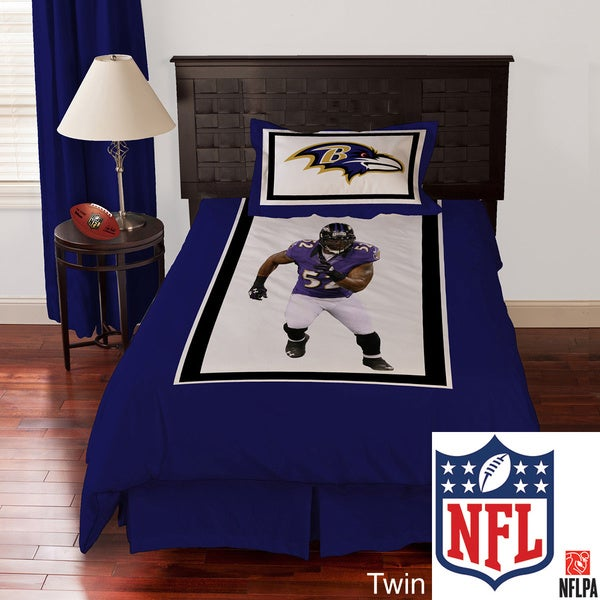 NFL Biggshots Baltimore Ravens Ray Lewis 4-piece Comforter Set