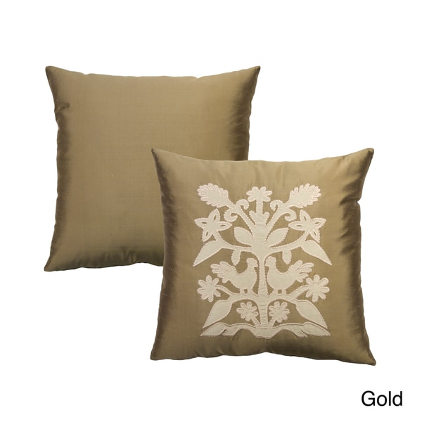 Rose Tree Alexandria Applique Decorative Pillow - Free Shipping On Orders Over $45 - Overstock ...