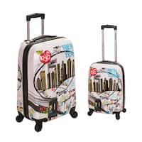 Rockland New York 2-piece Lightweight Hardside Spinner Luggage Set
