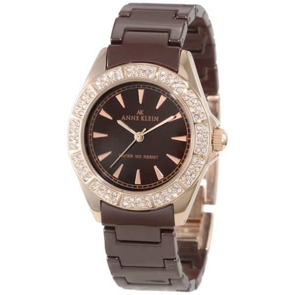 Anne Klein Women's Brown Ceramic Watch