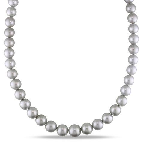 614da8799163a Buy 14k Pearl Necklaces Online at Overstock | Our Best Necklaces Deals