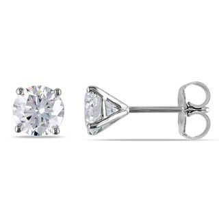 Miadora Signature Collection 14k White Gold 1 1/2ct TDW Certified Diamond Earrings