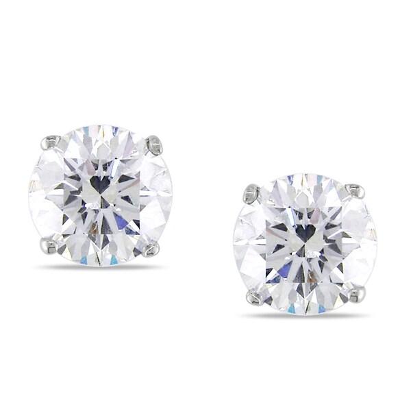 Miadora 14k Gold 1 1/2ct TDW Certified Round Diamond Earrings
