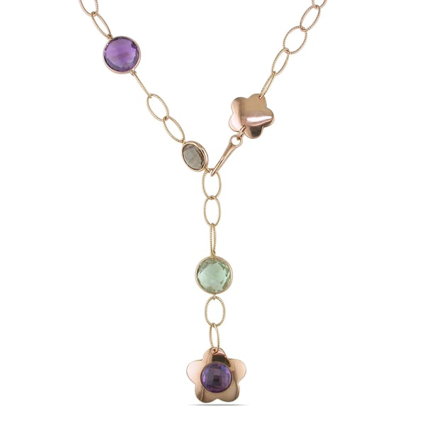 Miadora 18k Rose Gold Multi-gemstone Necklace