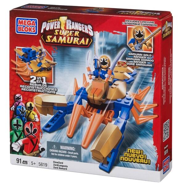Mega Bloks Power Rangers Samurai ClawZord