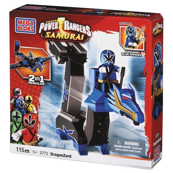Mega Bloks Power Rangers Samurai Blue Dragon Folding Zord