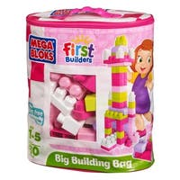 Mega Bloks 80-piece Pink Big Building Bag