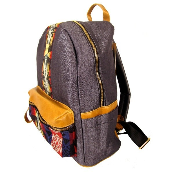 Garin Denim Aztec Backpack