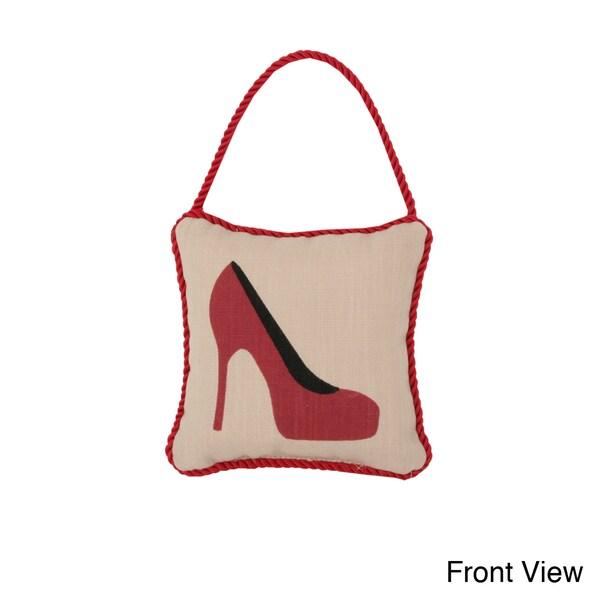 Reversible 'High Heel/ Steppin' 6-inch Door Hanger Pillow