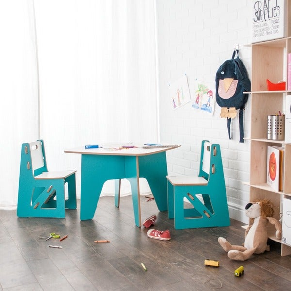 Folding Modern Kids Table and Chair Set