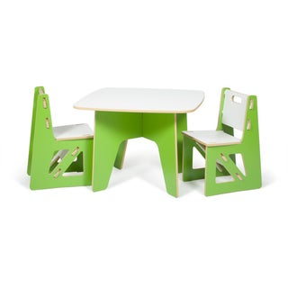 Sprout Kid's 3-piece Table and Chairs Set (Option: Green)