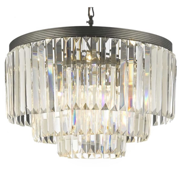 Gallery Odeon Crystal Gl Fringe 3 Tier Chandelier Free Shipping Today 7535911
