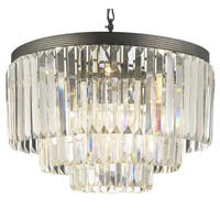 Gallery Odeon 3-tier Crystal Glass Fringe Chandelier
