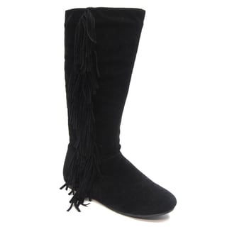 Blue Women's 'Gena' Black Fringe Accented Boots