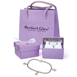 Children's Sterling Silver Birthstone Heart Charm Bracelet