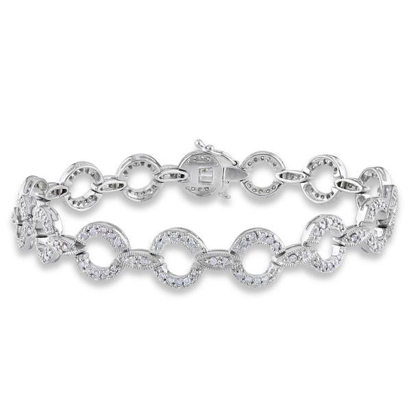 Miadora 14k White Gold 1 1/6ct TDW Diamond Bracelet (I-J, I1-I2)