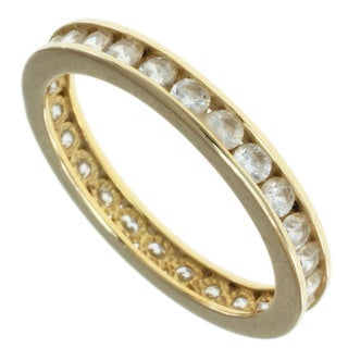 Michael Valitutti 14k Yellow Gold Cubic Zircona Ring