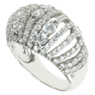 Michael Valitutti 14k White Gold Cubic Zircona Fashion Ring